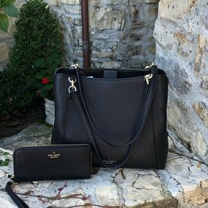 NWT kate spade Jackson 3compartment handbag&wallet